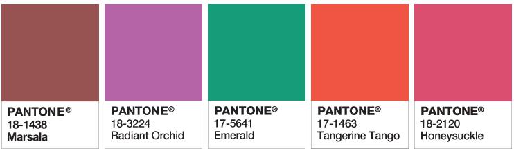 Historyczne wybory na kolor roku Pantone