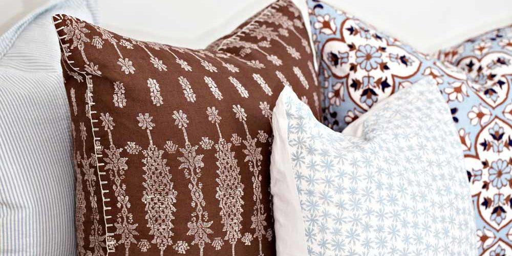 Poduszki dekoracyjne w zbliżeniu - wzory
