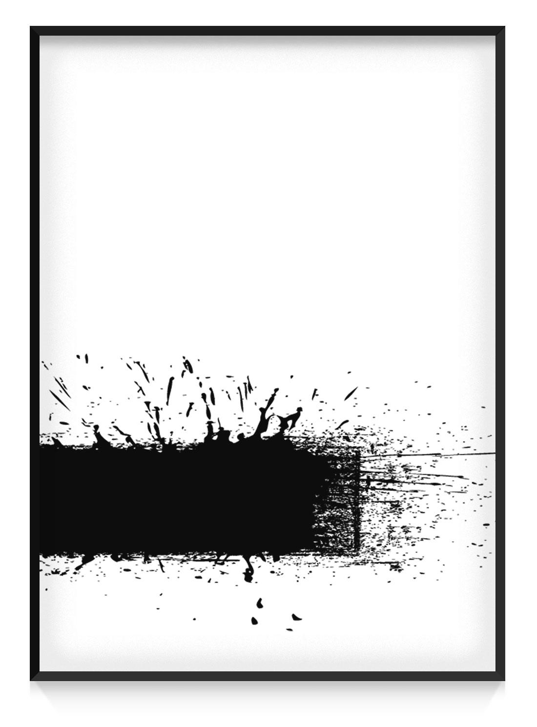 Plakat Czarny Pasek 1